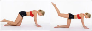 Hip extension exercise on the ground